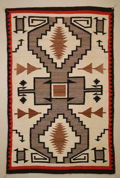 Historic Storm Pattern Navajo Rug 1940