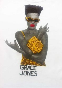 GRACE JONES Shirt T-shirt   Leopard  Painting 3d Tee by Quor