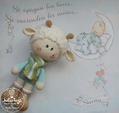 Spring Lamb crochet toy
