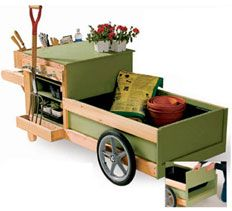 DIY Landscaping & Garden, Woodworking Plans & Projects - Garden Work Cart Project Plan