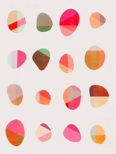 Painted Pebbles 5 - Art Print by Garima Dhawan/Society6