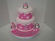 pink winter Celebration Cakes, Birthday Celebration, Birthday Cakes, Winter, Desserts, Pink, Food, Shower Cakes, Winter Time
