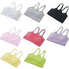 Hot Women Seamless Stretch Vest Base Vest Top Sport Yoga Bra Wrap Chest Crop Top