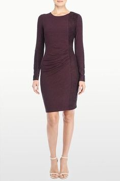 Stella Jersey And Faux Suede Blocked Dress