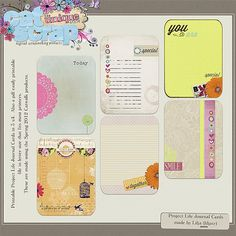 Printable -- Spring Journal Cards from Lilja