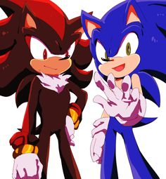 Sonic and Shadow (wtf shadow smile)