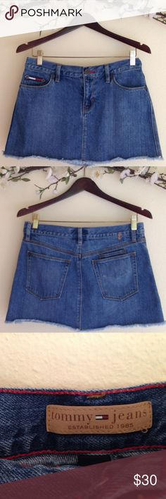 d9e0c158c27f9f Tommy Hilfiger Denim Distressed Raw Hem Skirt Tommy Hilfiger Denim  Distressed Raw Hem Skirt. A