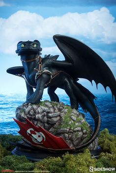 Train Dragon Toothless Statue by Sideshow Collectibles - Architecture and Art - Train Dragon Toothless Statue from Sideshow Collectibles, - Dreamworks Dragons, Httyd Dragons, Dreamworks Animation, Toothless And Stitch, Toothless Dragon, Hiccup And Toothless, Baby Toothless, Toothless Night Fury, Httyd