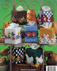 A Baker's Dozen Tissue Box Covers Plastic Canvas Pattern