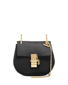 Drew Mini Chain Shoulder Bag, Black by Chloe at Neiman Marcus.