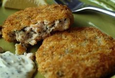 This recipe for salmon patties is made with fresh, not canned, salmon. The cakes are browned on the stovetop and can then be finished in the oven.