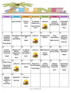 A Month Of Meals On A Budget - June 2015 No-Repeat Meal Plan - 30 Days Of Dinners For $134 With FREE Printable Grocery List And Recipes - Mom's Bistro