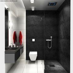 Black And White Small Bathroom Interior Design