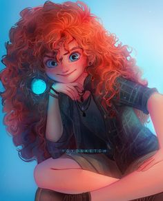 Merida by YoYo Sketch Disney Princess Fashion, Disney Princess Drawings, Disney Princess Art, Disney Fan Art, Disney Drawings, Princess Tiana, Art Drawings, Princess Bubblegum, Art Sketches