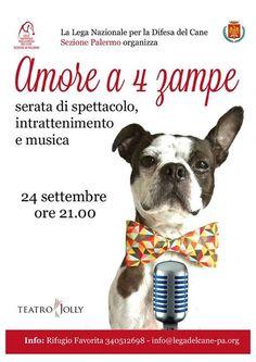 24/9 la #LegadelCane di #Palermo organizza una serata di spettacolo, intrattenimento e musica.