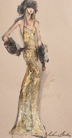 A sketch from the Fall 2015 Ralph Lauren Collection