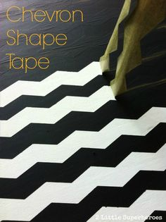 Chevron Painters Tape! You can find it at Lowes and Walmart. #shapetape #chevron #frogtape www.2littlesuperheroes.com