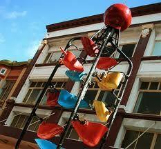 Water sculpture on Cuba Street