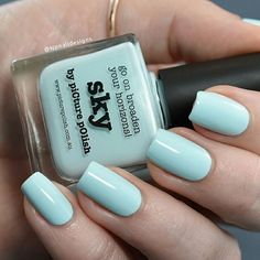 As the name suggests, Sky is the perfect sky blue, light and pastel.    Credit: Kjpnaildesign --> https://www.instagram.com/p/BRptnbDgU-D/