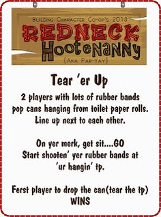 Hi there - welcum to our dino-mite redneck hootenanny party. Planning this event filled up my gas tank to overflowin'. We had a rootin' . Christmas Party Games, Christmas 2019, Christmas Ideas, Redneck Party Games, Redneck Birthday, Trailer Trash Party, Hillbilly Party, Redneck Christmas, White Trash Party