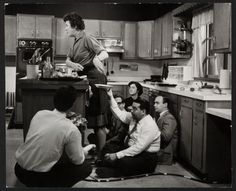 Julia Childs filming a show