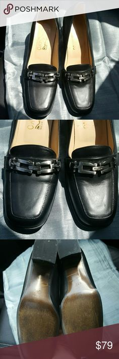 37c Salvatore Ferragamo Great condition pre-loved mules period color is black signs of wear are very light as pictured. Size 37 C. Perfect business shoes Salvatore Ferragamo Shoes Mules & Clogs