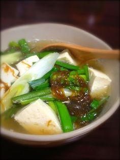 豆腐でヘルシー☆もずくスープ