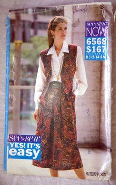 Vintage See and Sew Plus Size 6568 Petite by VintagePatternsPlus, $5.00