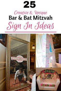 Creative Ways To Sign In At Your Child S Bar Bat Mitzvah Celebration