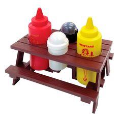 Mr. Bar-B-Q Picnic Table Condiment Set (1), Yellow mustard