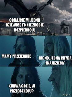 Bts Memes, Funny Memes, Jokes, Polish Memes, Dark Sense Of Humor, Persona 5, Wtf Funny, Lotr, The Hobbit