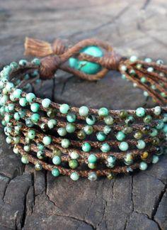 Turquoise boho bracelet