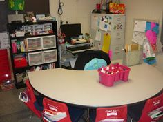use seat sacks just for the reading table supplies (whiteboard, marker, etc.)
