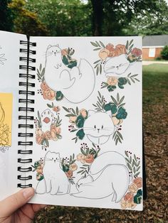 Trying to keep up with Inktober and dealing with a sinus infection has had quite an impact on my sketchbook, so this week it's just a one pager. Cool Art Drawings, Animal Drawings, Art Sketches, Illustration Art, Illustrations, Arte Sketchbook, Sketchbook Inspiration, Doodle Art, Cat Art