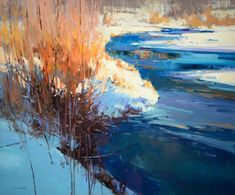 """Winter Wonderland"" by Jill Carver 30"" high X 36"" wide - Wood River Fine Arts"
