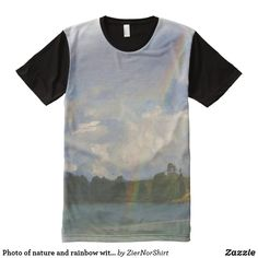 Photo of nature and rainbow with oil paint effect All-Over-Print T-Shirt Oil Paint Effect, Types Of T Shirts, Beach T Shirts, Paint Effects, Stylish Shirts, S Shirt, Nature Photos, Bunt, Printed Shirts