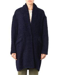 Isabel Marant Gabriel herringbone-textured coat