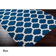 Hand-woven 'Botswana' Moroccan Trellis Reversible Flatweave Wool Area Rug (5' x 8') | Overstock.com Shopping - The Best Deals on 5x8 - 6x9 R...