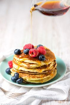 Fluffy Coconut and Quark American Pancakes