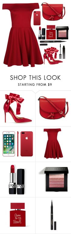 """red."" by mmaulidyaa on Polyvore featuring Gianvito Rossi, KC Jagger, Apple, Boohoo, Christian Dior, Bobbi Brown Cosmetics, Bella Freud, L'Oréal Paris and Serge Lutens"