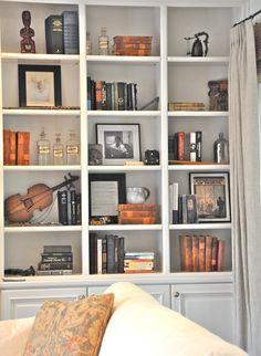 open bookshelf arrangements