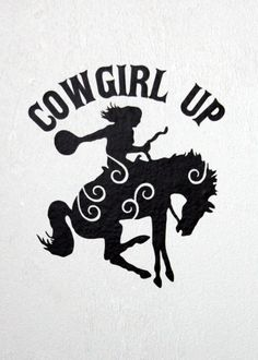 Cowgirl Up vinyl decal by MiddleburgTradingCo on Etsy, $2.75