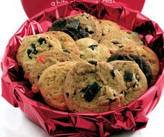 Unbelievable Two Pound Cookie Tin - A 2 lb batch of freshly baked cookies is the ideal gift for a client, couple or small office. It is a good thing there are a lot of cookies in this tin, that way everyone will get to try each flavor. The cookies are shipped in an attractive cookie gift tin. Fresh Baked, No Preservatives.