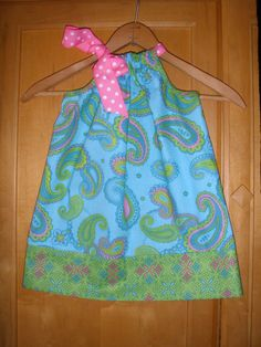 Paisley dress :) ...Ahhh! That's so adorable! And it's so fun for a little kid. :)