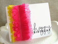 Crepe Paper Fringe Card 25+ Cinco de Mayo Ideas | NoBiggie.net
