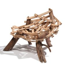 Unique Chair made of Modern and Natural Wood – Eyrie Chair - The Great Inspiration for Your Building Design - Home, Building, Furniture and Interior Design Ideas Twig Furniture, Furniture Design, Deco Design, Wood Design, Nest Chair, Magazine Deco, Muebles Art Deco, Natural Architecture, Rough Wood