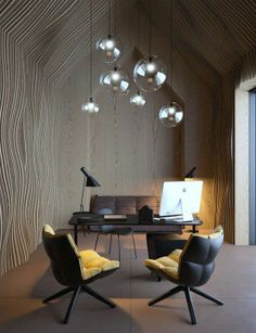 """Concept Office """"Attic"""" by Vasiliy Butenko // #bafco #bafcointeriors Visit www.bafco.com for more inspirations."""