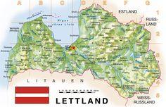 lettland karte im Lettland Reiseführer http://www.abenteurer.net/3687-lettland-reisefuehrer/