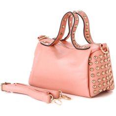 RIO Pink Mini Studded Bowling Style Tote Handbag