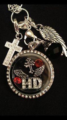 Love... #harleydavidson custom locket. What's in your locket? www.simplymelonie.origamiowl.com